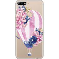 Силиконовый чехол BoxFace Huawei Y7 Prime 2018 Pink Air Baloon (934966-rs6)