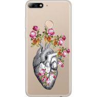 Силиконовый чехол BoxFace Huawei Y7 Prime 2018 Heart (934966-rs11)
