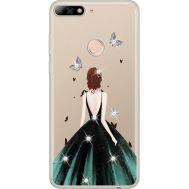 Силиконовый чехол BoxFace Huawei Y7 Prime 2018 Girl in the green dress (934966-rs13)