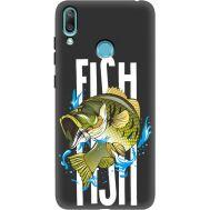 Силиконовый чехол BoxFace Huawei Y7 2019 Fish (37011-bk71)
