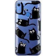 Силиконовый чехол BoxFace Huawei Y6s с 3D-глазками Black Kitty (38865-cc73)