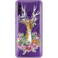 Силиконовый чехол BoxFace Huawei Y6p Deer with flowers (940018-rs5)