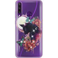 Силиконовый чехол BoxFace Huawei Y6p Cat in Flowers (940018-rs10)