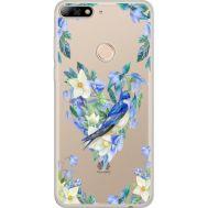 Силиконовый чехол BoxFace Huawei Y7 Prime 2018 Spring Bird (34966-cc96)