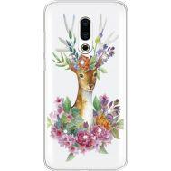 Силиконовый чехол BoxFace Meizu 16 Plus Deer with flowers (935584-rs5)