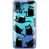 Силиконовый чехол BoxFace Meizu 16s с 3D-глазками Black Kitty (37984-cc73)
