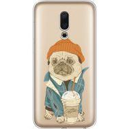 Силиконовый чехол BoxFace Meizu 16 Dog Coffeeman (35190-cc70)