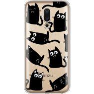 Силиконовый чехол BoxFace Meizu 16 с 3D-глазками Black Kitty (35190-cc73)
