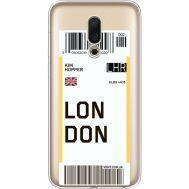 Силиконовый чехол BoxFace Meizu 16 Ticket London (35190-cc83)