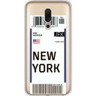 Силиконовый чехол BoxFace Meizu 16 Ticket New York (35190-cc84)