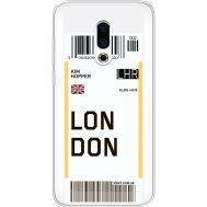 Силиконовый чехол BoxFace Meizu 16 Plus Ticket London (35584-cc83)