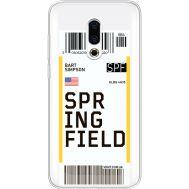 Силиконовый чехол BoxFace Meizu 16 Plus Ticket Springfield (35584-cc93)