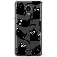 Силиконовый чехол BoxFace Meizu C9 с 3D-глазками Black Kitty (35757-cc73)
