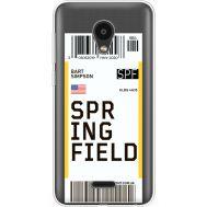 Силиконовый чехол BoxFace Meizu C9 Ticket Springfield (35757-cc93)