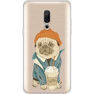 Силиконовый чехол BoxFace Meizu 15 Plus Dog Coffeeman (35783-cc70)