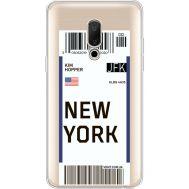 Силиконовый чехол BoxFace Meizu 15 Plus Ticket New York (35783-cc84)