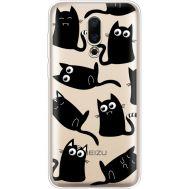 Силиконовый чехол BoxFace Meizu 16X с 3D-глазками Black Kitty (35843-cc73)