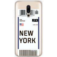 Силиконовый чехол BoxFace Meizu 16X Ticket New York (35843-cc84)