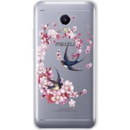 Силиконовый чехол BoxFace Meizu M5s Swallows and Bloom (935041-rs4)