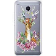 Силиконовый чехол BoxFace Meizu M5s Deer with flowers (935041-rs5)