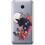 Силиконовый чехол BoxFace Meizu M5s Cat in Flowers (935041-rs10)