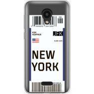 Силиконовый чехол BoxFace Meizu C9 Pro Ticket New York (38754-cc84)
