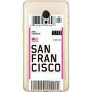 Силиконовый чехол BoxFace Meizu M15 (15 Lite) Ticket San Francisco (35007-cc79)
