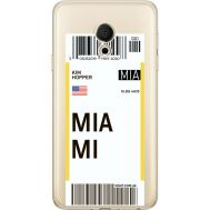 Силиконовый чехол BoxFace Meizu M15 (15 Lite) Ticket Miami (35007-cc81)