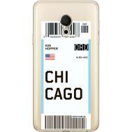 Силиконовый чехол BoxFace Meizu M15 (15 Lite) Ticket Chicago (35007-cc82)