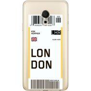 Силиконовый чехол BoxFace Meizu M15 (15 Lite) Ticket London (35007-cc83)