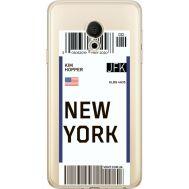 Силиконовый чехол BoxFace Meizu M15 (15 Lite) Ticket New York (35007-cc84)