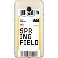 Силиконовый чехол BoxFace Meizu M15 (15 Lite) Ticket Springfield (35007-cc93)
