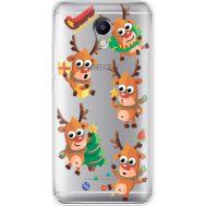 Силиконовый чехол BoxFace Meizu M5 Note с 3D-глазками Reindeer (35009-cc74)