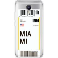 Силиконовый чехол BoxFace Meizu M5 Note Ticket Miami (35009-cc81)
