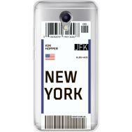 Силиконовый чехол BoxFace Meizu M5 Note Ticket New York (35009-cc84)