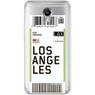 Силиконовый чехол BoxFace Meizu M5 Note Ticket Los Angeles (35009-cc85)