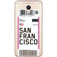 Силиконовый чехол BoxFace Meizu M6 Ticket San Francisco (35010-cc79)