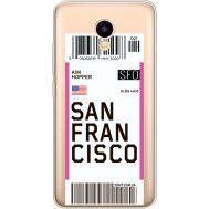 Силиконовый чехол BoxFace Meizu M5C Ticket San Francisco (35051-cc79)