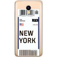 Силиконовый чехол BoxFace Meizu M5C Ticket New York (35051-cc84)
