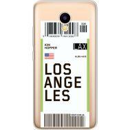Силиконовый чехол BoxFace Meizu M5C Ticket Los Angeles (35051-cc85)