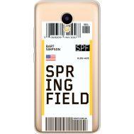 Силиконовый чехол BoxFace Meizu M5C Ticket Springfield (35051-cc93)