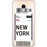 Силиконовый чехол BoxFace Meizu M3 Ticket New York (35365-cc84)