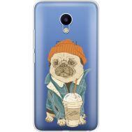 Силиконовый чехол BoxFace Meizu M5 Dog Coffeeman (35998-cc70)
