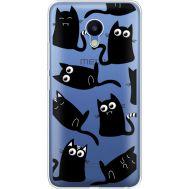 Силиконовый чехол BoxFace Meizu M5 с 3D-глазками Black Kitty (35998-cc73)