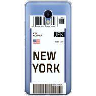 Силиконовый чехол BoxFace Meizu M5 Ticket New York (35998-cc84)