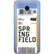 Силиконовый чехол BoxFace Meizu M5 Ticket Springfield (35998-cc93)