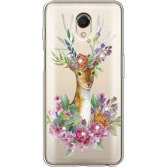 Силиконовый чехол BoxFace Meizu M6s Deer with flowers (935011-rs5)