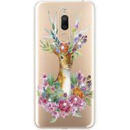 Силиконовый чехол BoxFace Meizu M6T Deer with flowers (935012-rs5)