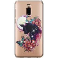 Силиконовый чехол BoxFace Meizu M8 Cat in Flowers (935866-rs10)
