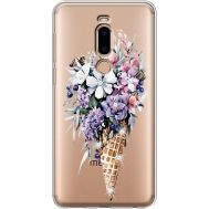 Силиконовый чехол BoxFace Meizu M8 Ice Cream Flowers (935866-rs17)
